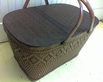 Vintage Redman Picnic Basket