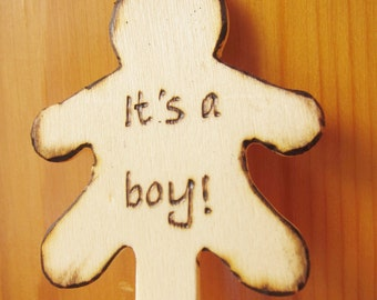 Custom Wood Burn Popsicle Stick, Cupcake Topper, Cake Topper, Baby Shower Party, Baby Boy / Girl Shine Kids Crafts