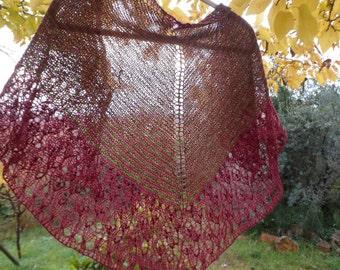 Bordeaux shawl