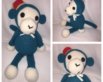 Soft Crocheted Monkey (Made to order)