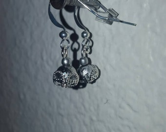 Silver Dangled Earrings