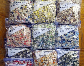 36 POUNDS of Ceramic Tiles - Make An OFFER! Huge Assortment of Tile Colors - Wholesale Lot - Free Shipping