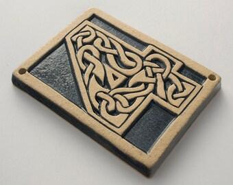 Number 4 Celtic Knot Tile