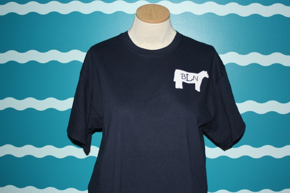 Monogrammed youth t-shirt - Livestock shower monogrammed shirt - Heifer t-shirt - Personalized heifer t-shirt - monogrammed cow t-shirt