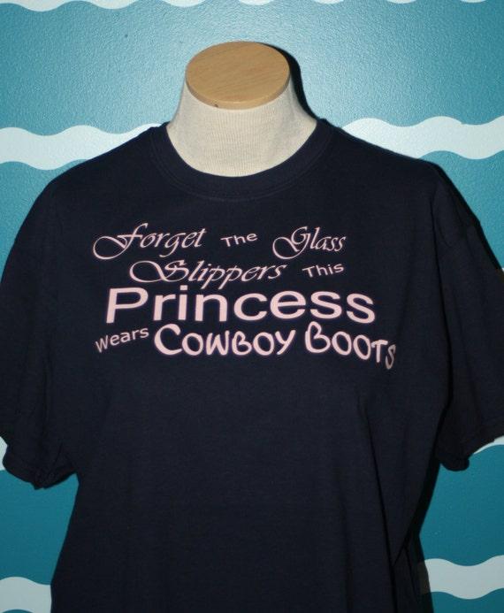 Cowboy boot princess t-shirt - this princess wears cowboy boots - custom shirt - custom princess shirt - gift the cowgirl