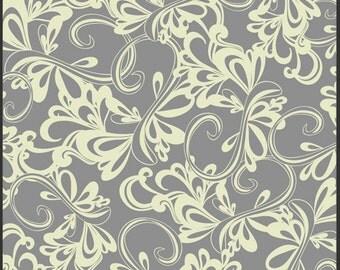 1/2 Yard - Art Gallery Grey Swirls Fabric