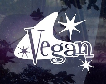Retro Vegan Decal