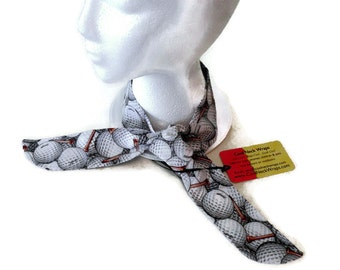 Golf Gifts For Men, Bandanna Neck Cooling Tie Scarf, Cool Gel Neck Wrap, Golf Balls & Tees Fabric, Golf Neck Tie Scarf