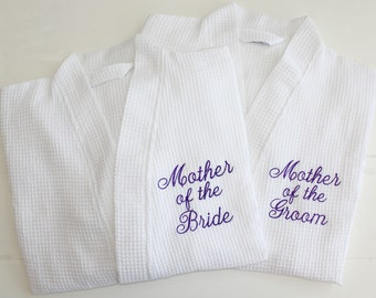 Personalized Robe Wedding Party Gifts Mother of the Bride, Mother of the Groom Custom Embroidery