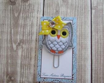 Owl Planner Clip, Planner Clip, Planner Accessories, Bookmark, Paper Clip
