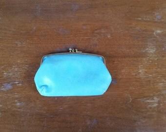 Button clasp coin purse.