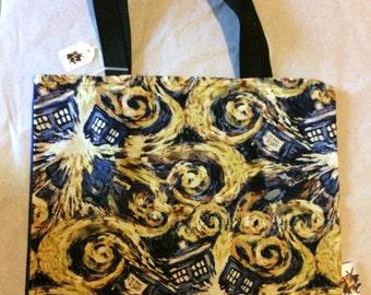 Doctor Who Exploding TARDIS Tote Bag, Trick or Treat Halloween Bag, Reusable Shopping Bag