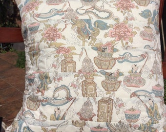 Liberty Print Quilted cushion cover