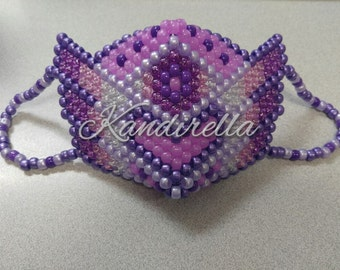 Purple PLUR Warrior Kandi Mask