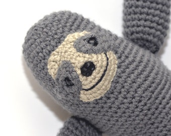 John the Sloth - Crochet Stuffed Animal, Amigurumi Toy, Plushies, Handmade Toy