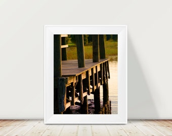 Nature Print , Lake Dock , Summer Fun , A Place To Go Fishing, Natural Reflection, Florida