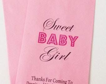 ON SALE Baby Shower Candy Buffet Favor Bags, Bags for Candy, Candy Bar Bags, Custom Candy Bags