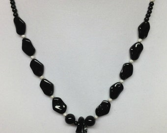 Black Twist Dichroic Necklace