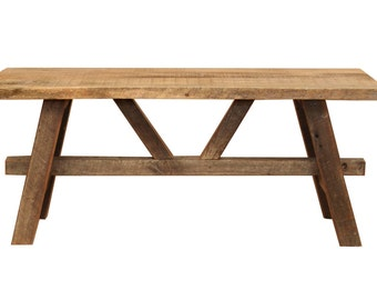 Barn Wood Coffee Table – Reclaimed wood furniture –  Living room – rustic décor accent