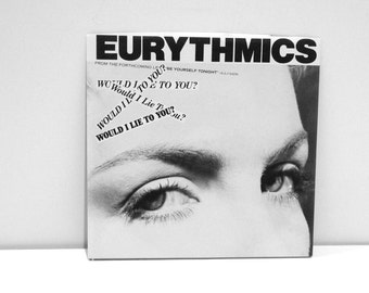 The Eurythmics Record Vintage Vinyl Annie Lennox Dave Stewart Single Would I Lie To You 45 rpm Here Comes That Sinking Feeling 1985 80s Band