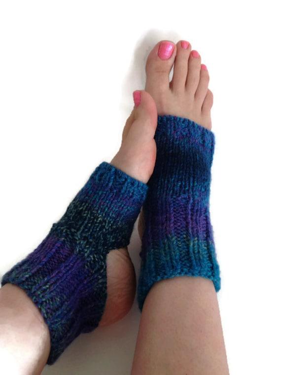 Flip flop socks hand knit toeless socks