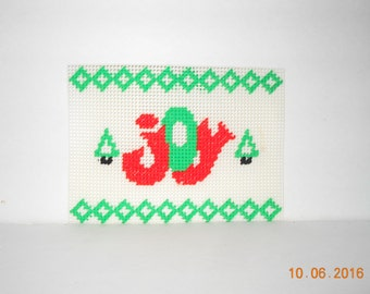 JOY wallhanging-Plastic canvas, Christmas, Holiday