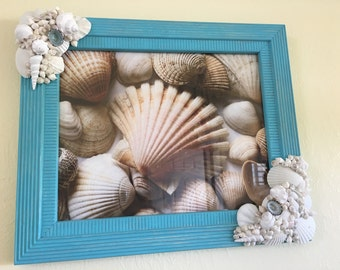 Sesashell Picture Frame.  Ready to Ship!