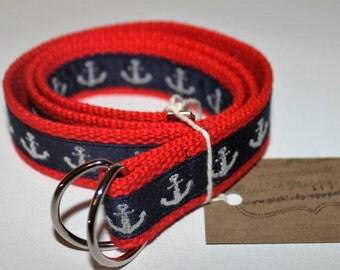 Kids Red Anchor Belt
