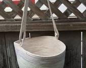 The Bucket Bag Coiled Basket--Perfect for Knitting-- with Bonus Insert!