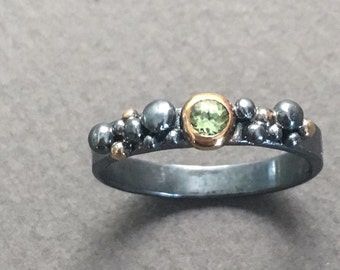 Peridot Bubble Ring