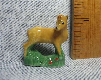 Fawn Deer Doe, Hunting in the Woods Series  - French Feve Feves Figurines Miniatures V140