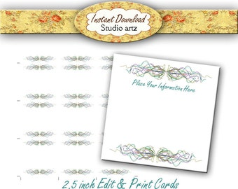 Printable Earring Cards,Editable Earring Cards, Instant Download Jewelry Cards, DIY