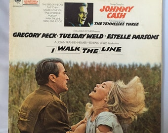 Johnny Cash and the Tennessee Three, I Walk The Line Vinyl Record Album LP / Columbia Records Vintage Vinyl Record, Classic Country