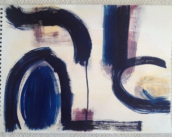 original watercolor painting. abstract expressionist