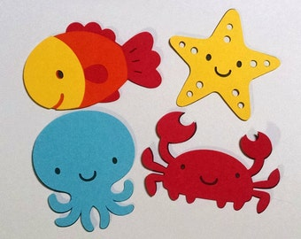 16 Under the Sea  3 inch die cut shapes