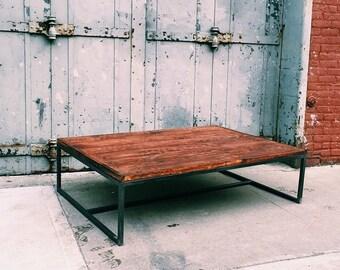Custom Reclaimed Wood / Steel Coffee Table