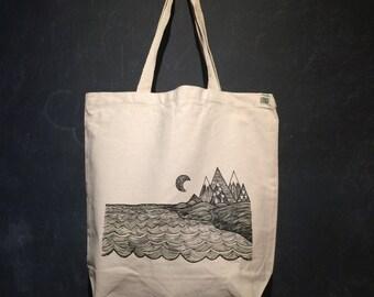 Where the Mountains Meet the Sea Tote Bag