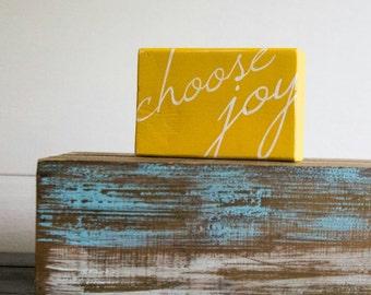 Choose Joy Block (yellow)