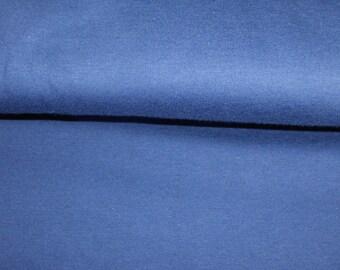 50cm single Jersey organic cotton GOTS blue