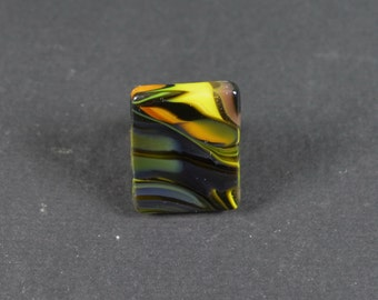 Handmade ring  made of  fused glass. Jewelry from Ukraine.