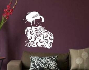 Oriental Woman Decal... Vinyl Wall Decal Sticker Home Decor Sharp