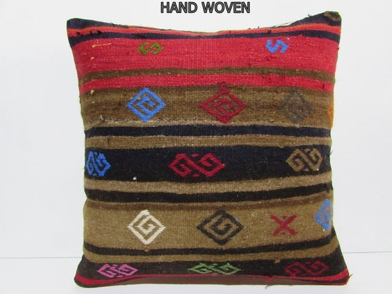 Large Moroccan Floor Pillows : kilim pillow 24x24 moroccan floor cushion by DECOLICKILIMPILLOWS