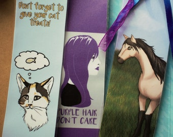 Cute Bookmarks Pack of 3