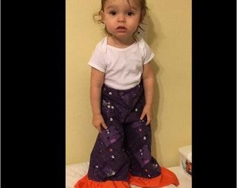 Purple Nightmare before Christmas 3t ruffle pants