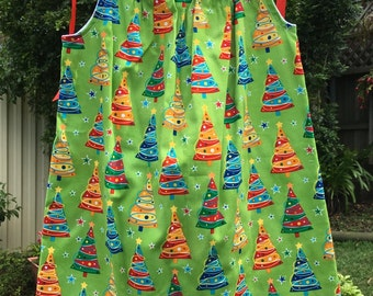 Girls Christmas Dress Sizes 1, 2, 3, 4, 5, 6 and 7