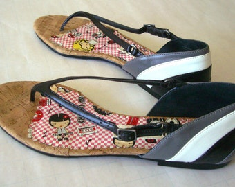 HARAJUKU LOVERS SANDALS, Size 9 1/2