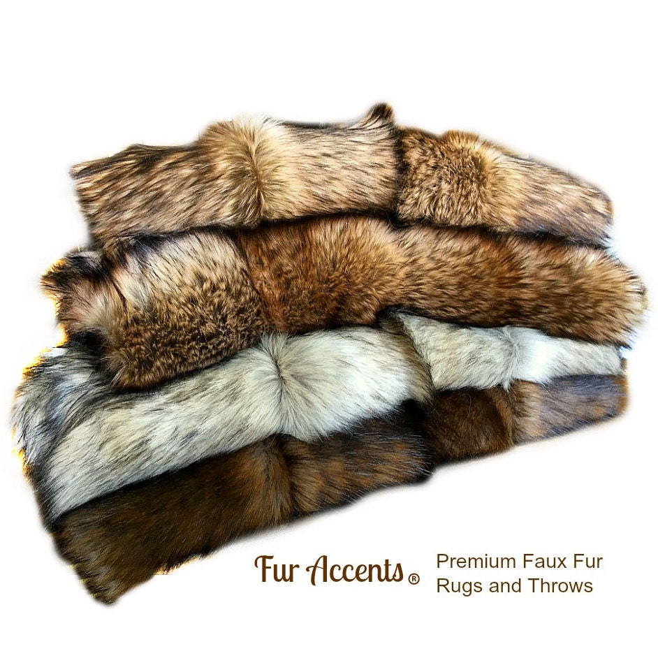 faux fur fabric exotic white with black tip wolf plus 4 more. Black Bedroom Furniture Sets. Home Design Ideas