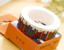 15mmX10M Library Books Ocean of knowledge Washi Tape Diary Filofax Masking Tape