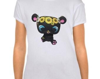 Girl's Custom Littlest Pet Shop Spring Bear Fitted Babydoll T-Shirt