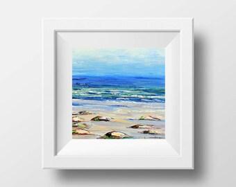 California Art, Landscape Print, Giclee Print, Beach Decor, California Print, Pacific Ocean, beach Print,  San Francisco, Artist, Lisa Elley